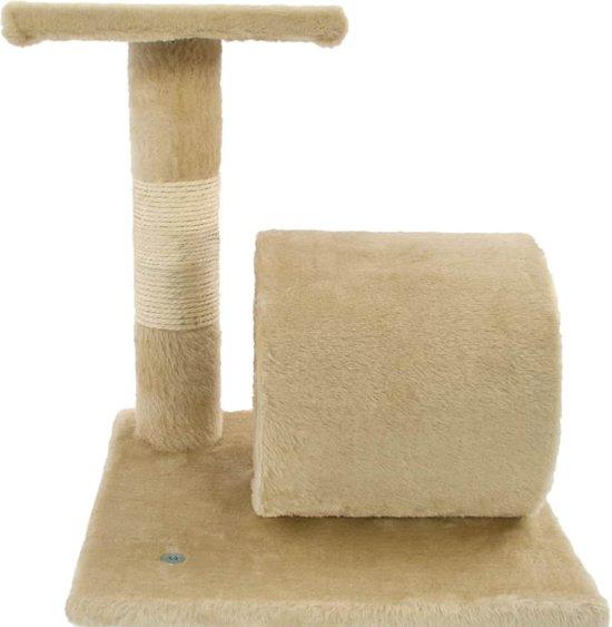 vidaXL Kattenkrabpaal met sisal krabpalen 65 cm beige