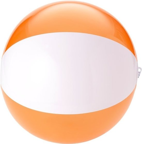 Opblaasbare strandbal oranje