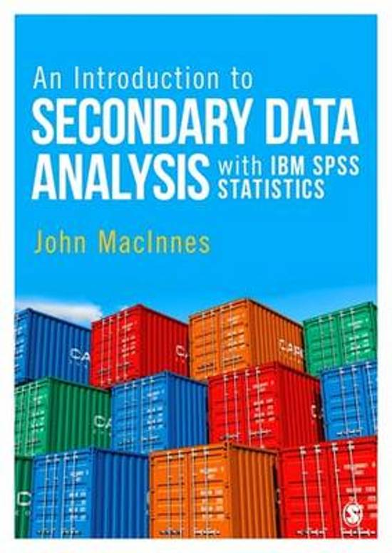 bol com | An Introduction to Secondary Data Analysis with