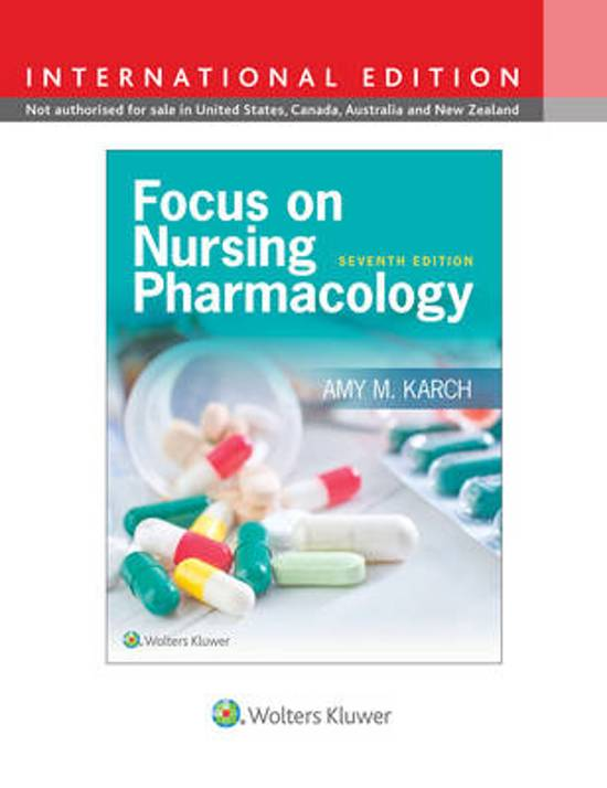 Focus Nurs Pharmacology 7e (Int Ed) CB