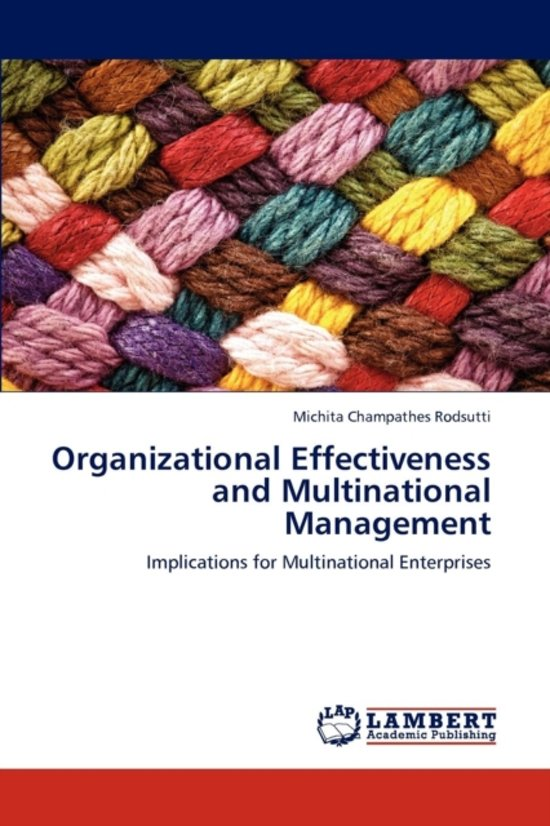 Organizational Effectiveness and Multinational Management