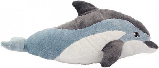 e358282266768a bol.com | Pluche dolfijn knuffel blauw 35 cm, Merkloos | Speelgoed