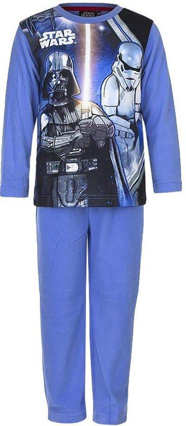 Star Wars fleece pyjama maat 104 kobaltblauw