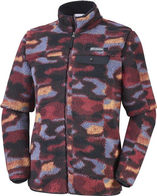 Columbia Mountain Side Heavyweight Fleece FZ Vest Heren Elderberry Camo