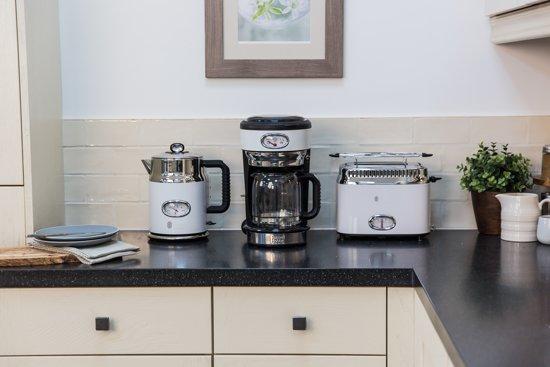 Russell Hobbs Retro Classic Blanc Koffiezetapparaat