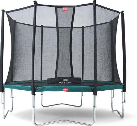 BERG Champion Trampoline - 380 cm - Inclusief Veiligheidsnet Comfort - Groen