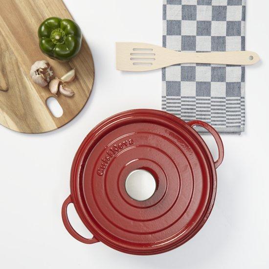 Cuisinova Braadpan Gietijzer 28 cm met Deksel Rood