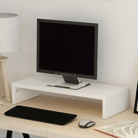 vidaXL TV-/monitorstandaard spaanplaat 60x23.5x12 cm wit