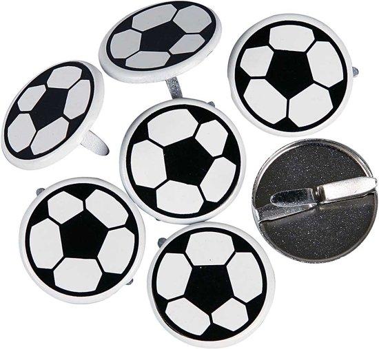 Brads, d: 20 mm, Voetbal, 30 stuks