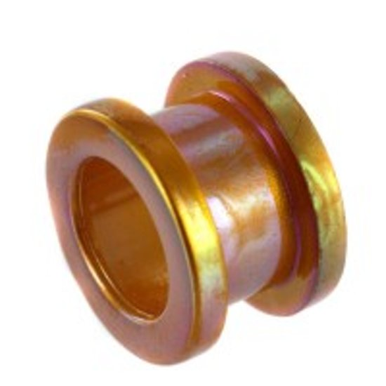Metallic Oranje Screw Fit Tunnel - 24 mm (per set)
