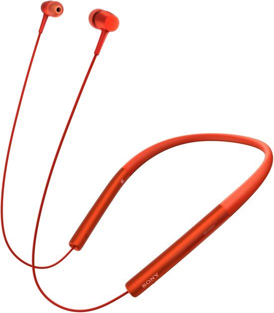 Sony h.ear MDR-EX750BT - Draadloze Hi-Res audio in-ear oordopjes - Rood