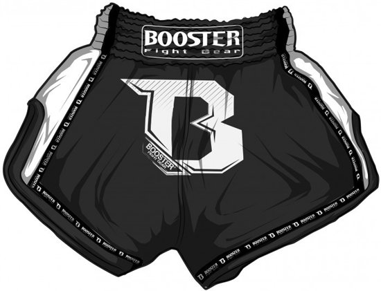 Booster TBT pro kickboksshort zwart large