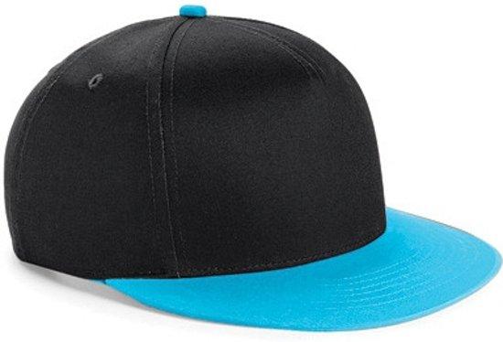 Beechfield baseball cap kinderen Zwart/blauw