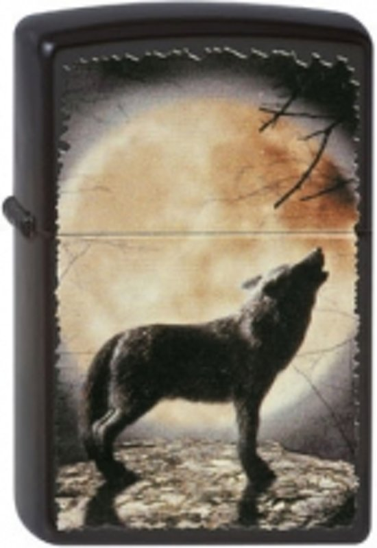 Zippo aansteker Wolf Howling To The Moon