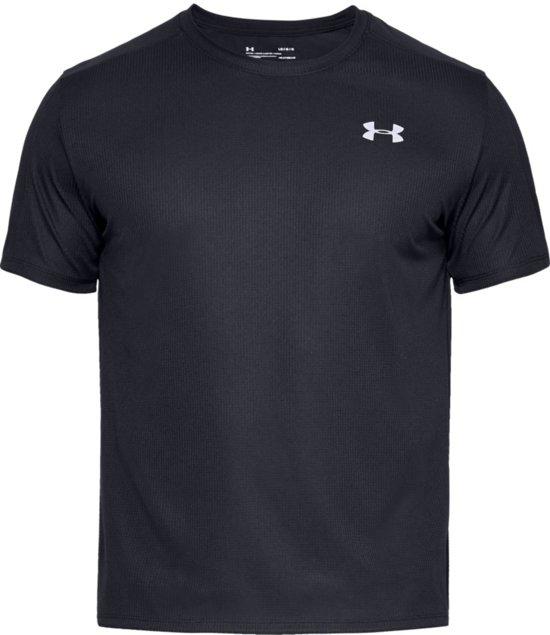 Under Armour Speed Stride Shortsleeve Sportshirt Heren - Zwart - Maat XL