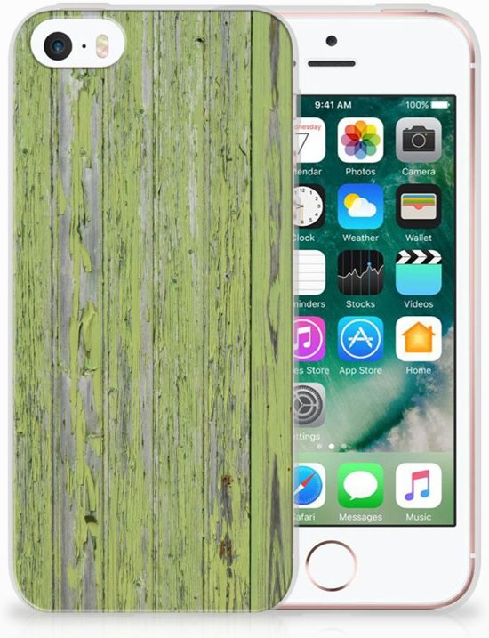 iPhone SE | 5S TPU Hoesje Design Green Wood