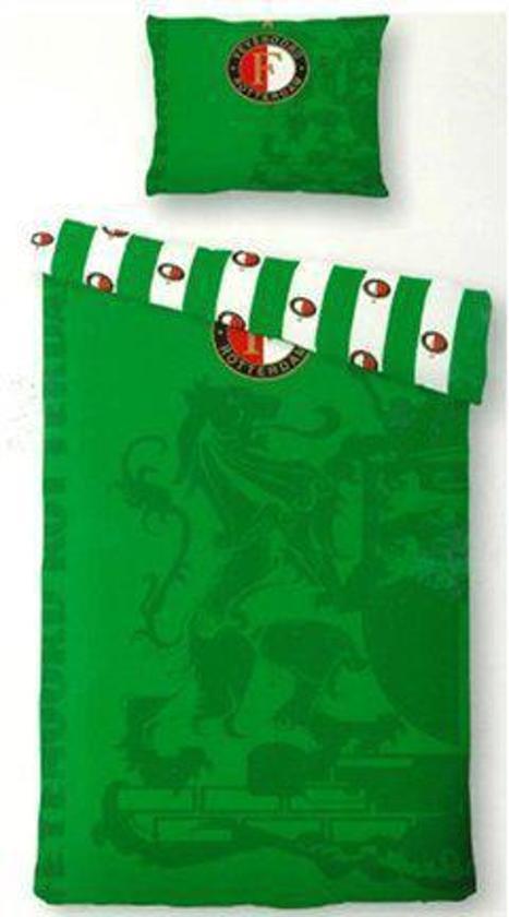 Feyenoord Dekbedovertrek 1 Persoons.Feyenoord Dekbedovertrek Groen 1 Persoons 140x200 Cm 1 Sloop