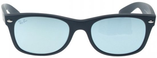 d66d88272b2 Ray-Ban RB2132 622 30 - zonnebril - New Wayfarer (Flash) - Zwart ...