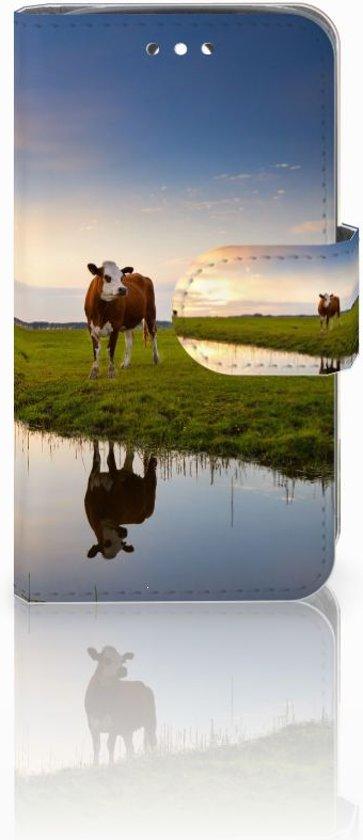 Huawei Y360 Uniek Boekhoesje Koeien met Opbergvakjes