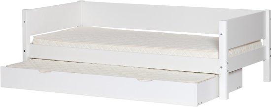 Flexa Slaapkamer Compleet.Bol Com Flexa White Eenpersoons Bed Met Logeer Uittrekbed