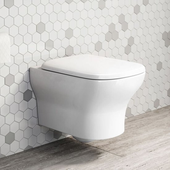Hangend Toilet Landeya Vale Rimless + Softclose Quick Release Zitting