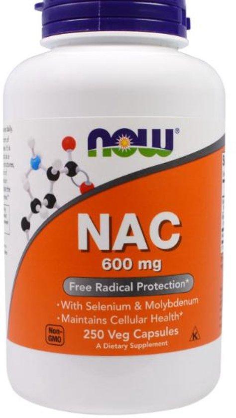 NAC, 600 mg (250 vegetarische capsules) - Now Foods