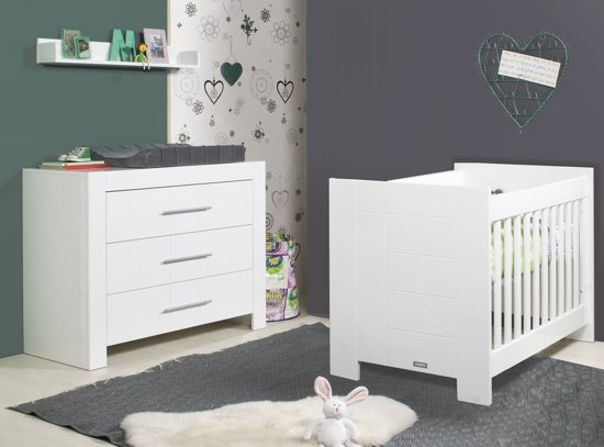 Bopita 2 delige babykamer manhatten wit for Babykamer sofie bopita