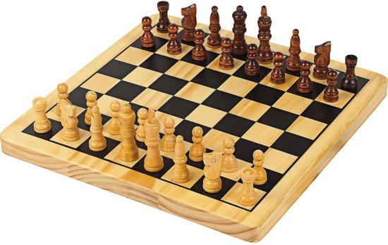 Chad Valley Houten dambord en schaakbord