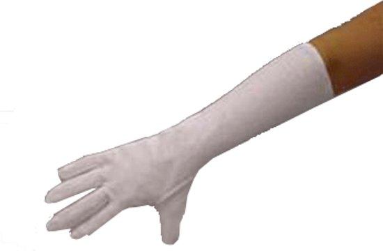 Witte lange handschoenen L