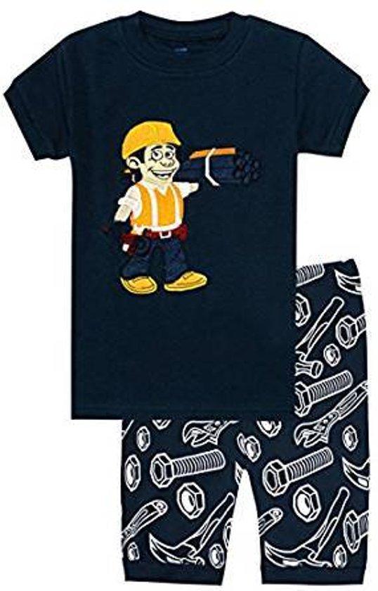 2e04b59bd71 El-ow-el Jongens Bouwer Korte Mouwen Pyjama set 100% katoen (maat 110/5  jaar)