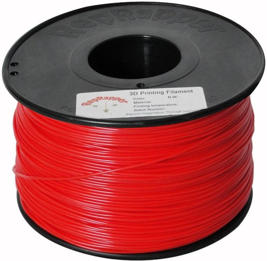 1.75mm rood ABS filament