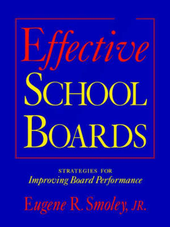 Effective School Boards