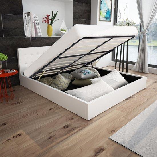 bol vidaxl bed met gasveer traagschuim matras 160x200 cm