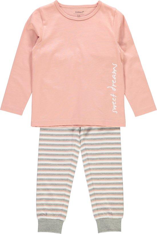 Name it Meisjes Pyjamaset - Rose Tan - maat 104