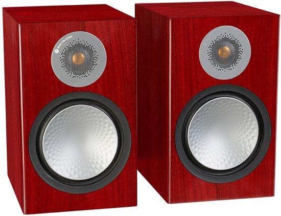 Monitor Audio Silver 100 - Boekenplank Speakers - Rosenut