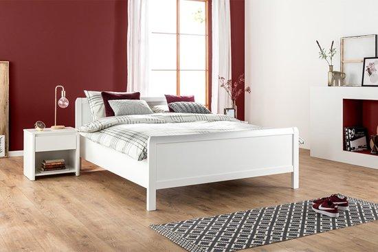 Wit Houten Bed 140x200.Beter Bed Bari Houten Bedframe 180x210 Cm Wit