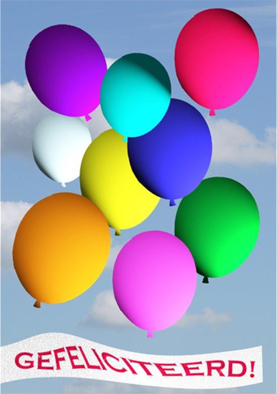 gefeliciteerd ballonnen bol.| Grote kaart A4   gefeliciteerd!   ballonnen gefeliciteerd ballonnen