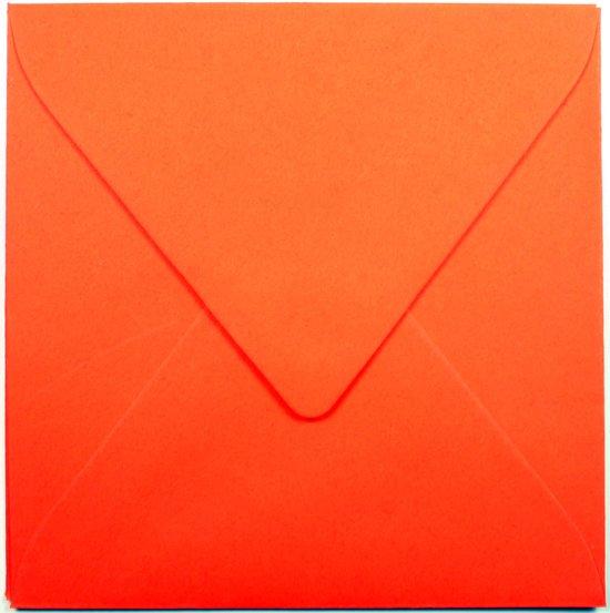 100 Enveloppen - Vierkant 14x14cm - Oranje