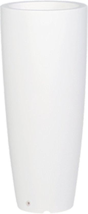 ARCA Hoge plantenbak SHUTTLE - rond - 100 cm hoog – mat wit