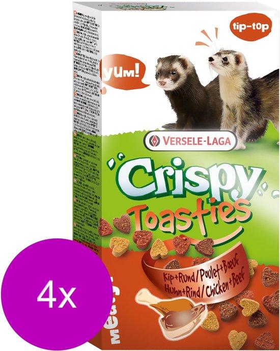 Versele-Laga Crispy Toasties Kip&Rund - Knaagdiersnack - 4 x Kip 150 g