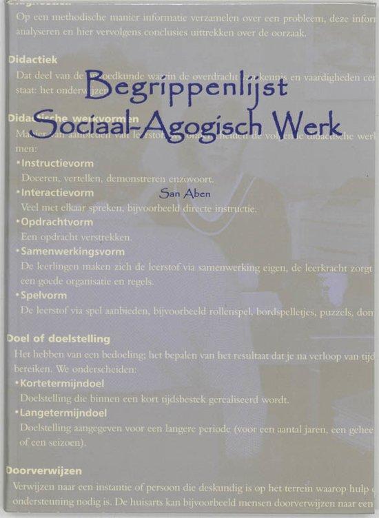 Boek Begrippenlijst Sociaal Agogisch Werk S Aben Epub Tiparnemock