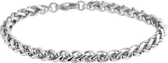The Jewelry Collection Schakelarmband Palmier - Dames - Zilverkleurig - 19 cm