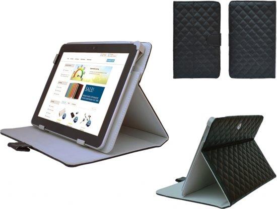 Diamond Class Case, Hoes met ruitpatroon voor Acer Iconia One 7 B1 750, Designer Hoesje, zwart , merk