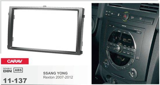 2-DIN SSANG YONG Rexton 2007-2012 inbouwpaneel Audiovolt 11-137