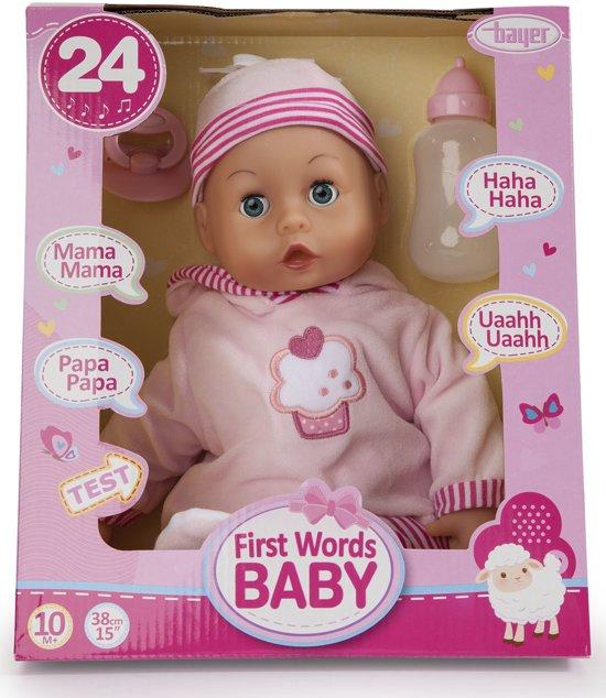 Bayer Mijn Eerste Woordjes Babypop: 38 cm