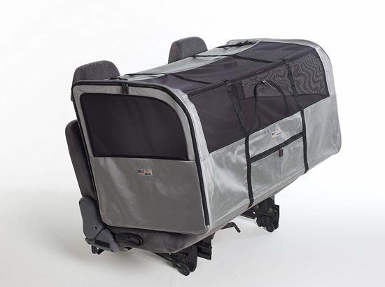 PetEgo Luxe Autobench - Opvouwbare Hondenbench voor Auto -  Reisbench - Hondenkennel - Zwart/Zilver