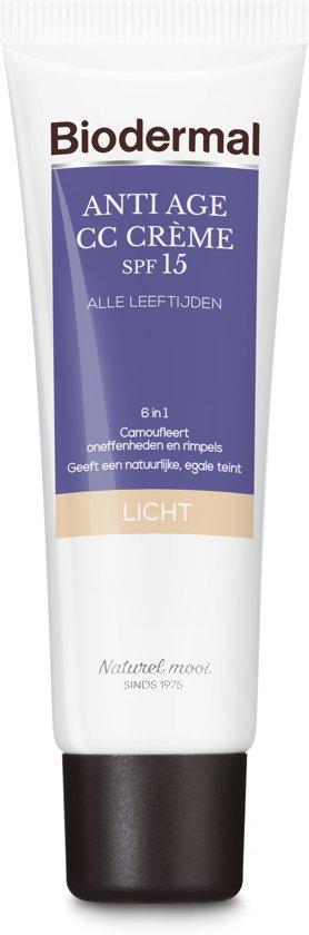 Biodermal Anti Age CC - Camouflerende crème met SPF15 - Lichte huid - 50ml
