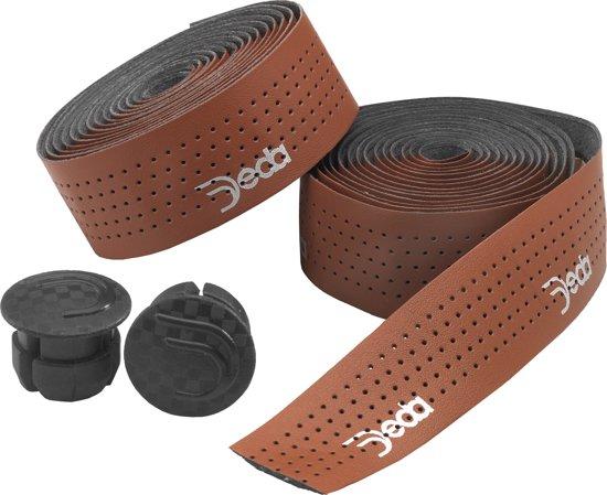 Deda Elementi - Stuurlint - Leather Bruin Classic Perfored