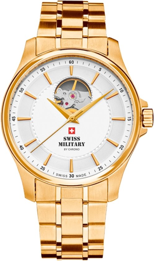 Swiss Military, goudkleurig herenhorloge