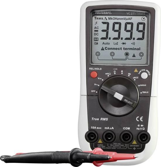 Multimeter Digitaal VOLTCRAFT VC-271 Kalibratie: Fabrieksstandaard (zonder certificaat) CAT III 600 V Weergave (counts)